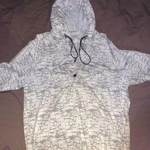 Zara windbreaker hoodie